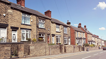 Row of terrace houses
