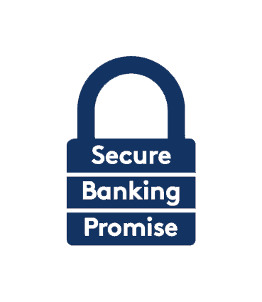 Secure banking promise logo