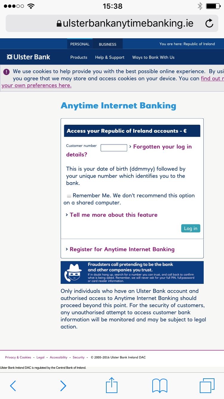 Ulsterbank anytime