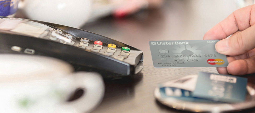 Ulster Bank Silver Credit card being used to make Contactless payment
