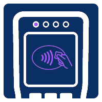 Contactless symbol on pay point